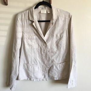 Chico's Women's 100% Linen Blazer, Sz 8-10 Medium